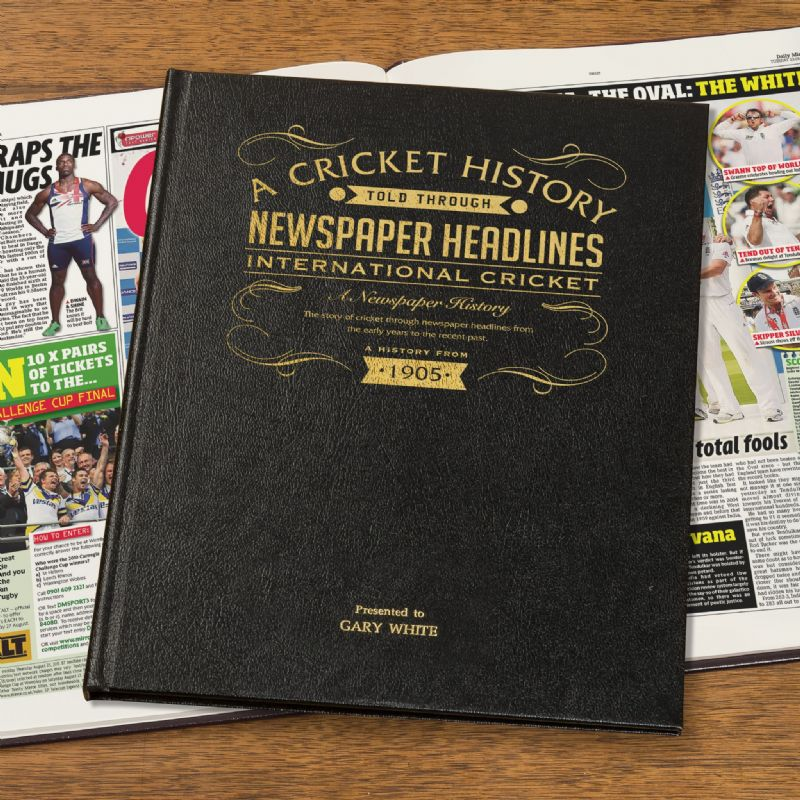 England Cricket History - Newspaper Book | Sweet and Nostalgic